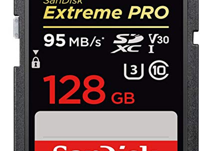 128GB Sandisk Class 10 95MB/s SD Card - 1