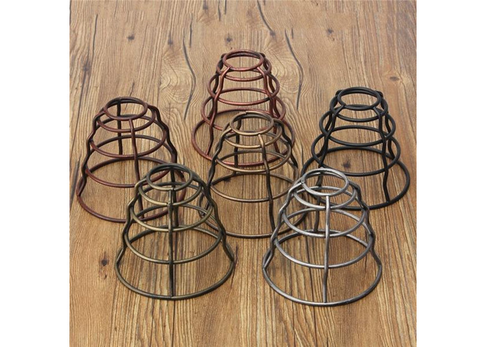 130MM DIY Vintage Pendant Trouble Light Bulb Guard Wire Cage Ceiling Hanging Lampshade - 2