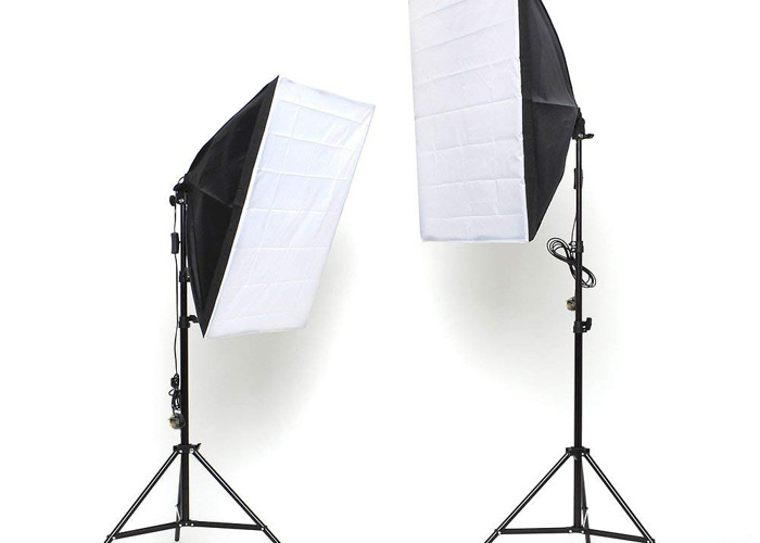2 x 135W Continuous Lighting Kit Soft box  - 1