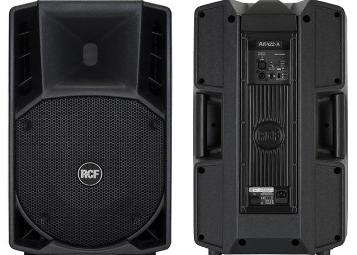 2x 1400 Watt RCF ART 745 Active PA Speakers x2 - 1