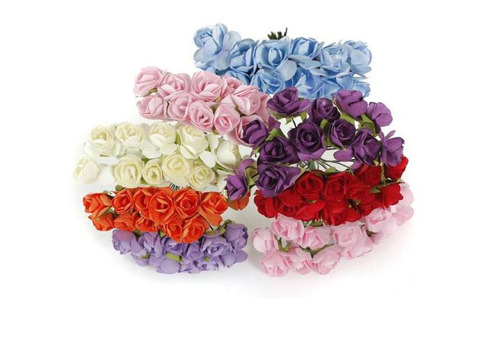 144Pcs Wedding Scrapbooking DIY Handmade Mini Paper Flowers - 2