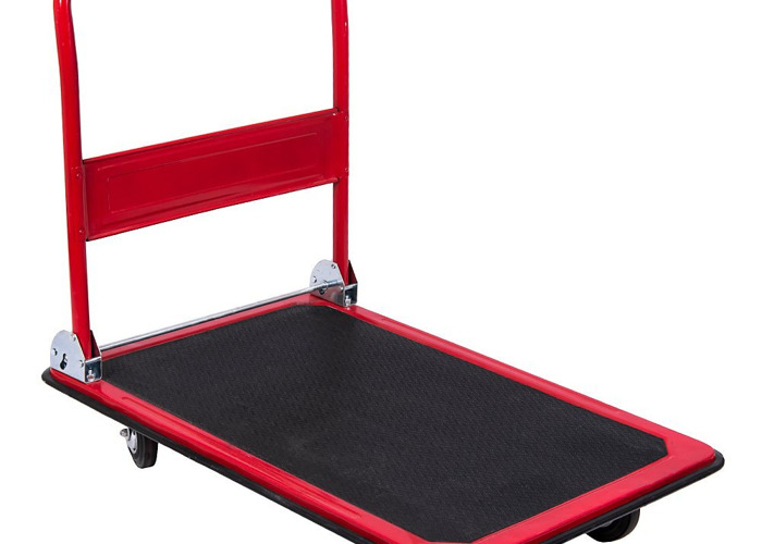 150kg capacity Folding Flat Bed Platform Hand Trolley - 1