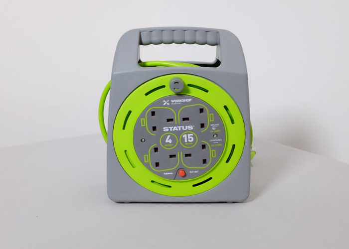 15m Cable Reel with 4 Sockets - 1