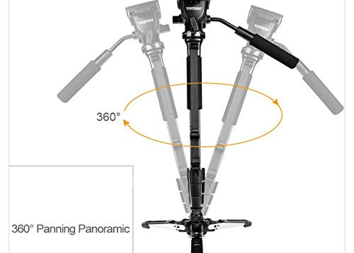 1.5m collapsible monopod with free standing base - 2