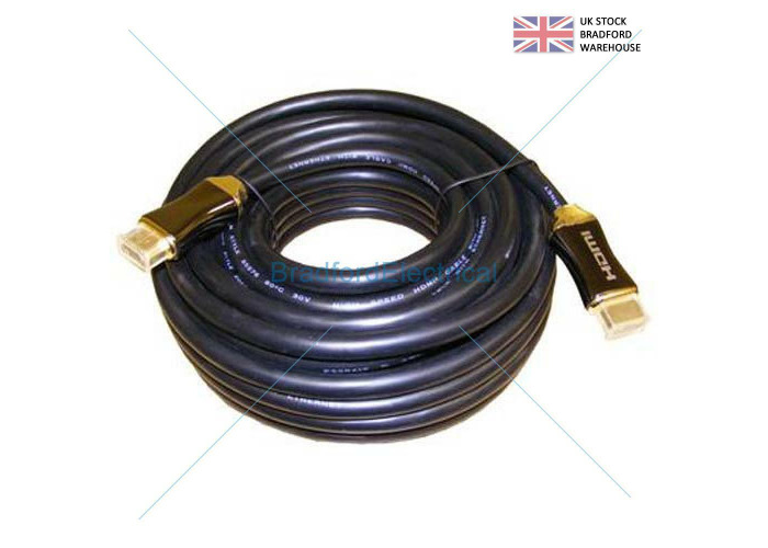 15m HEAVY DUTY V2.0 Long HDMI Cable High Speed 4Kx2K METAL ENDS GOLD CONNECTORS - 1