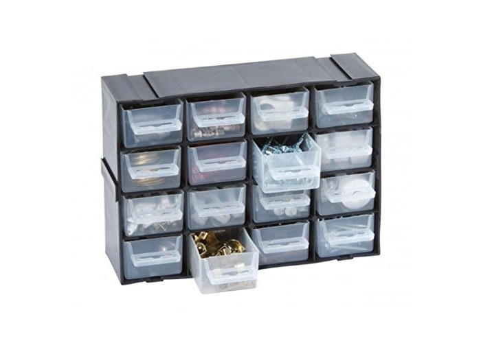 16 Multi Drawer Cabinet Interlocking made from Durable Plastic - 1