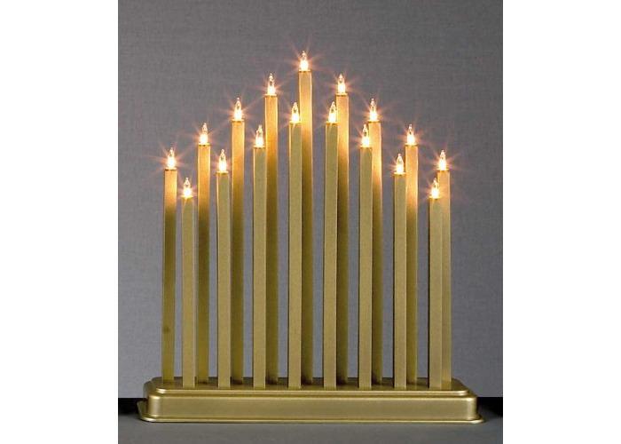 17 LIGHT GOLD CANDLE BRIDGE - 2