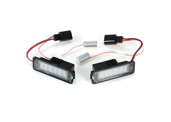 18 SMD LED License Number Plate Light for VW Golf Mk4 MK5 Passat Polo - 2