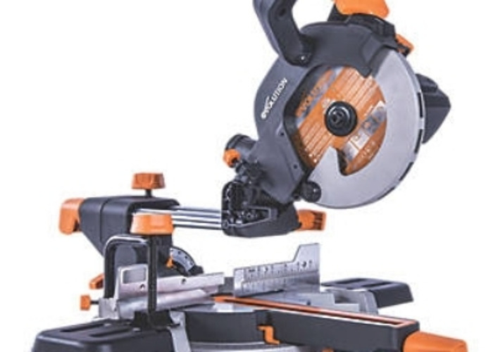 185mm Single-Bevel Sliding Mitre Saw 240V 		 		 			   - 1