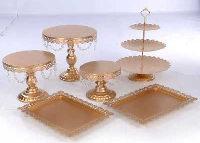 18x cake stand 3 sets Party Deco - 1