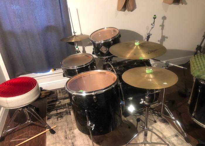 1960 Leedy 4 piece drum set  - 2