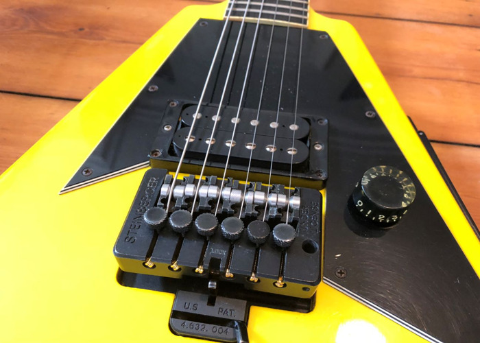 1988 Gibson Flying V Nuclear Yellow Electric Guitar - 1