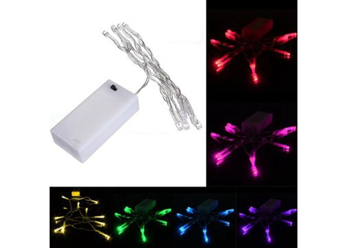 1M 10 LED Battery Powered Christmas Wedding Party String Fairy Light - 1