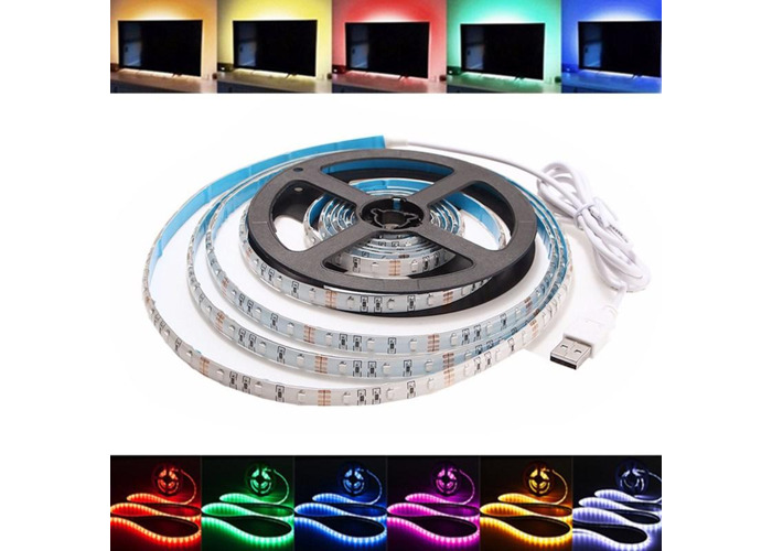 1M Waterproof USB SMD3528 TV Background Computer LED Strip Tape Flexible Light DC5V - 1