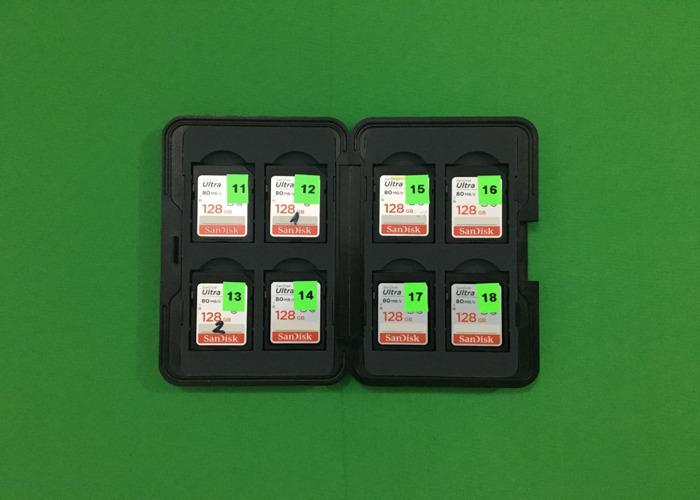 1TB SD card (8x 128 GB) SanDisk Ultra Class 10 SD card in case  - 1