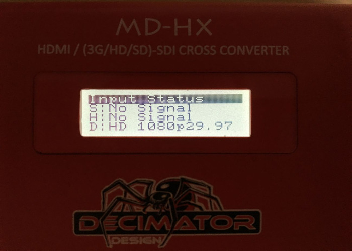 1x MD-HX HDMI / SDI Cross Converter with Scaling and Frame Rate Conversion (Decimator Design (DD-HX)) - 2