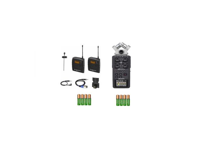 1x Sennheiser G3 body, lapel clip microphone kit + Zoom H6 - 1