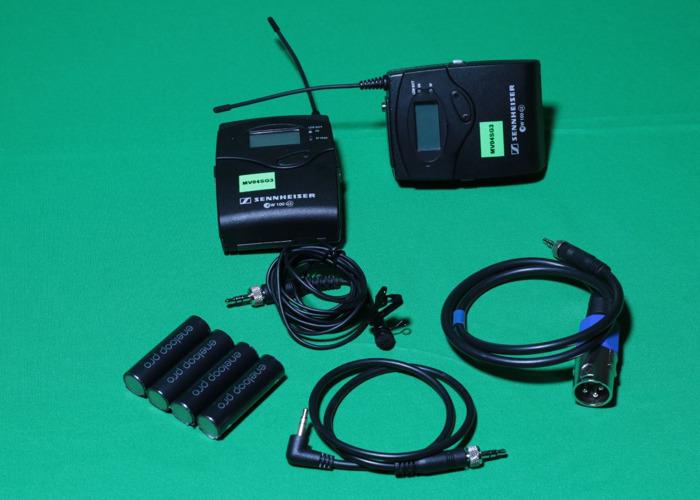 1x Sennheiser G3 Wireless Lapel Microphone kit in PELI case - 1