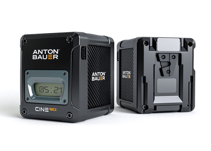 2 Anton Bauer Cine 90 VM V-Lock Batteries with charger - 1