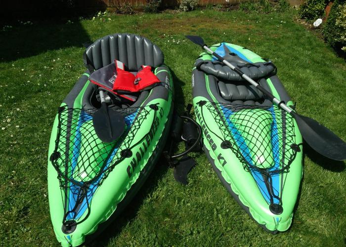 2 kayaks.  - 1