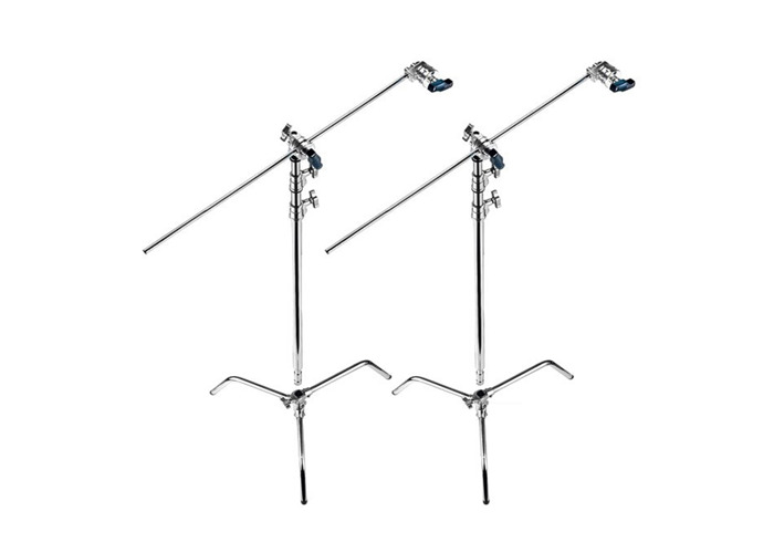 2 Manfrotto C-Stands & Arms - 1