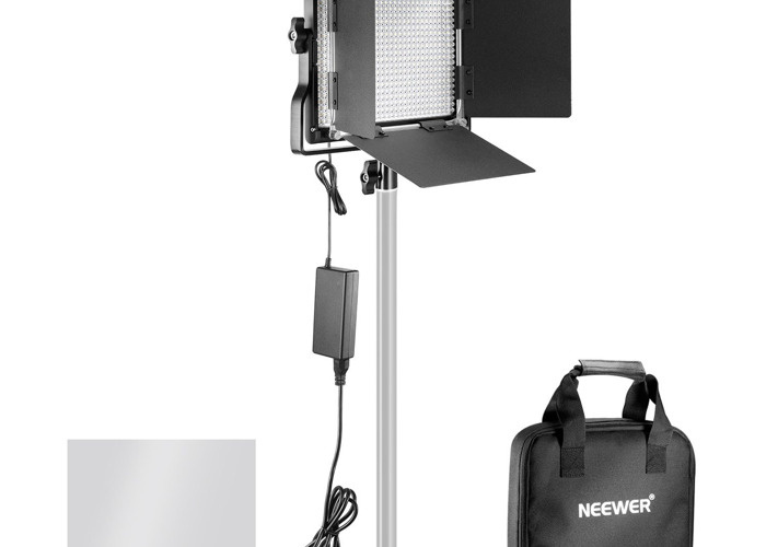 2 Neewer Professional Metal Bi-color LED Video Light with stands - 1