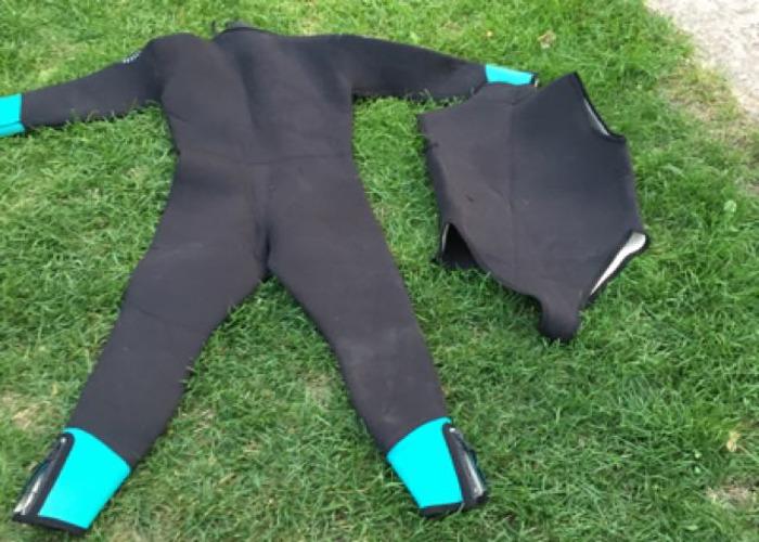 2 piece ladies scuba wetsuit size XM - 2