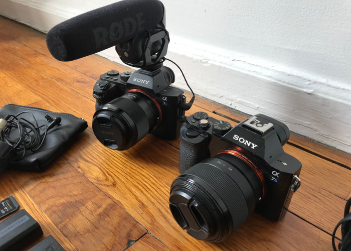 2 Sony A7s Camera Kit with Audio! Rode Video Mic & Tascam DR - 2