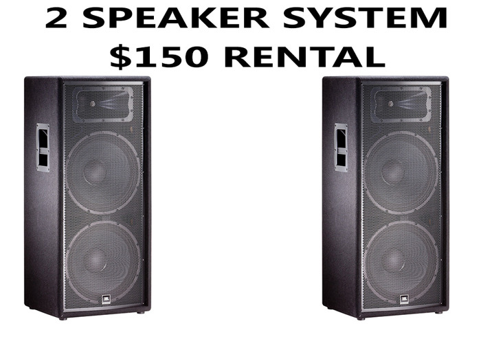 2 Speaker Pa Sound system with JBL dual 15 inch subwoofers  - 1
