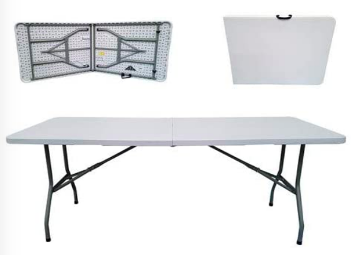 2 x 6ft Folding Trestle Tables - 1