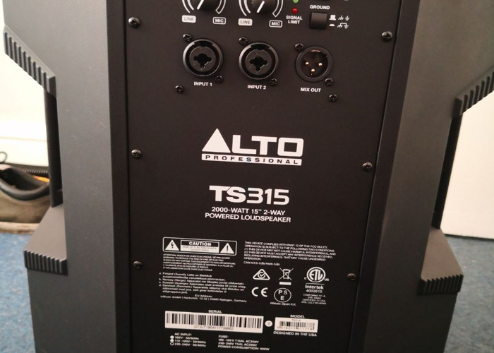 2 x TS315 Tops + 2 x TS218S subwoofers (available separate) - 2