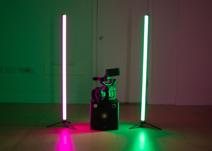 2 x Astera AX1 Pixel Tube Light Kit (Set Of 2 Wireless RGB LED Lights) + Remote Control - (Fluorescent, Neon, Portable, Dimmable) Bundle - 2