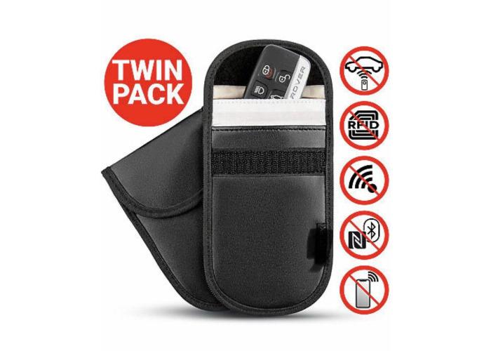 Caseflex Car Key Signal Blocker Pouch Pack of 2 RFID Blocking Faraday Bag...