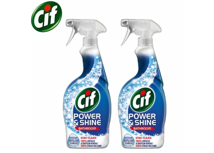 2 x Cif Power and Shine bathroom Spray-with lift action technology(700<wbr/>ml  - 1