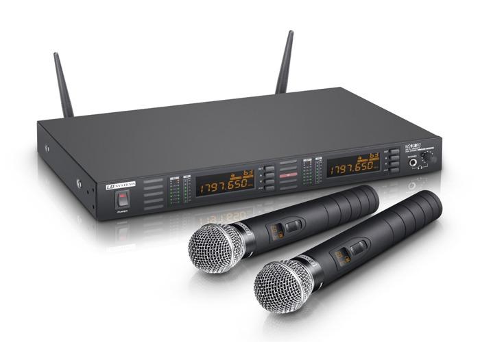 2 x Dynamic Handheld Wireless Microphones - 1