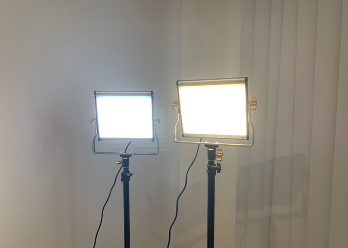 2 x LED Video Light Dimmable Kit + Light Stands  - 2