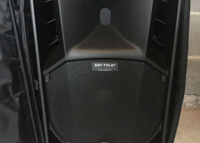 2 x RCF PA Speakers & Stands - 1