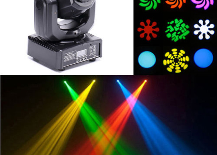 2 x RGB LED moving head lights with pattern & colour change - 2
