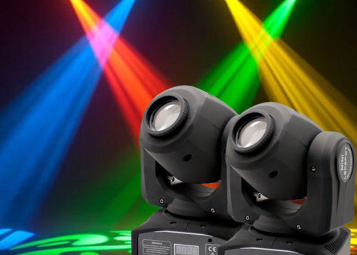 2 x RGB LED moving head lights with pattern & colour change - 1