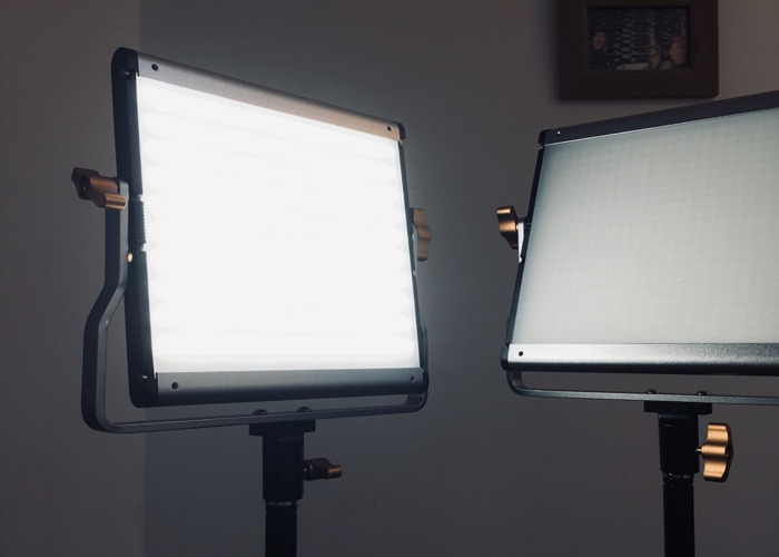 2 x set Neewer LED Panel Lights for Video Kit w/ Stands  - 1