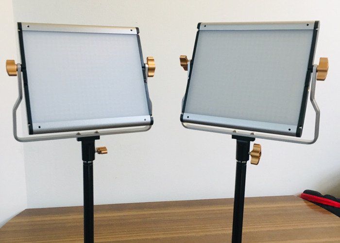 2 x set Neewer LED Panel Lights for Video Kit w/ Stands  - 2