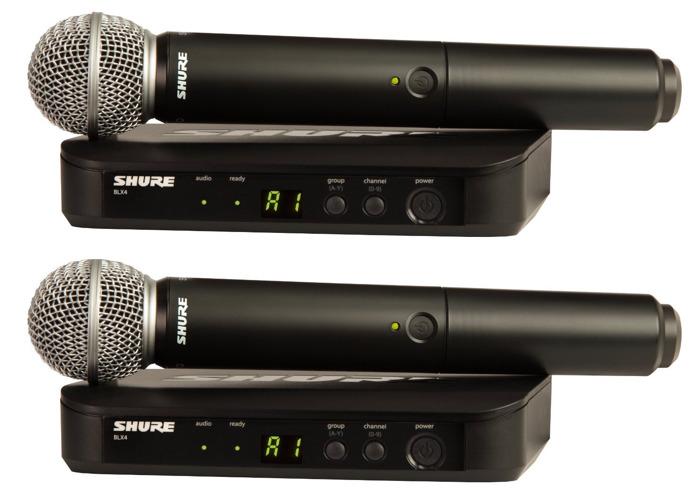 2 X Shure BLX24 wireless handheld set - 1