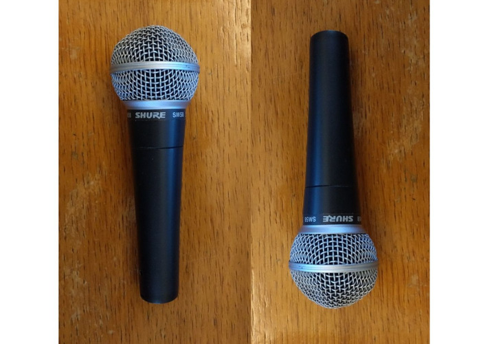 2 x Shure SM58 microphones and cables - 1