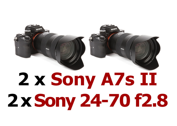 2 x Sony A7s II & 2 x Sony 24-70 f2.8 GM Bundle (or A7 iii) - 1