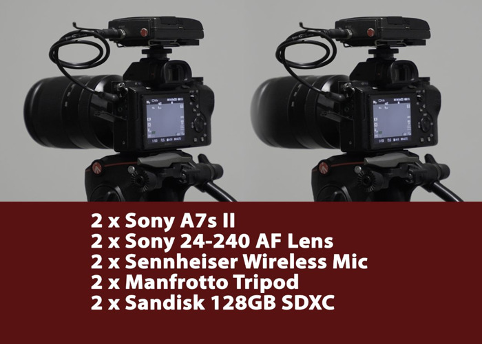 2 x Sony a7s II, Lens, Mics, Tripods (Interview Package) - 1