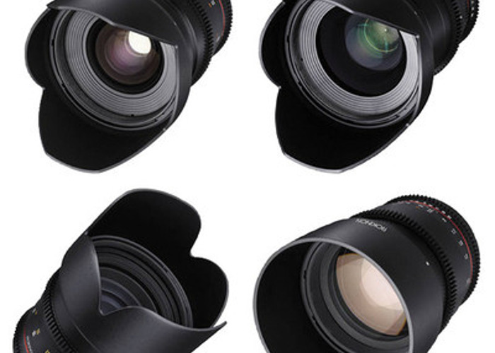 24, 35, 50, 85mm T1.5 Cine DS Lens Bundle (EF Mount) - 1