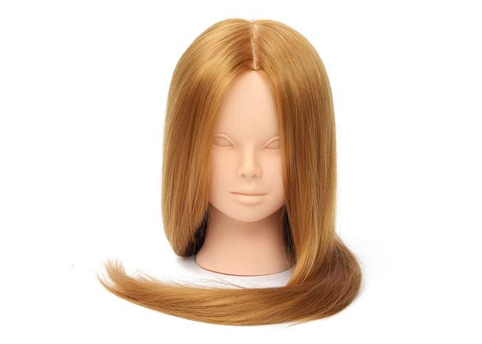 26'' Long Hair Training Mannequin Head Model Hairdressing Makeup Practice with Clamp Holder - 2