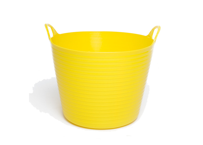 28L Extremely Strong Flexible Buckets - Yellow - 1