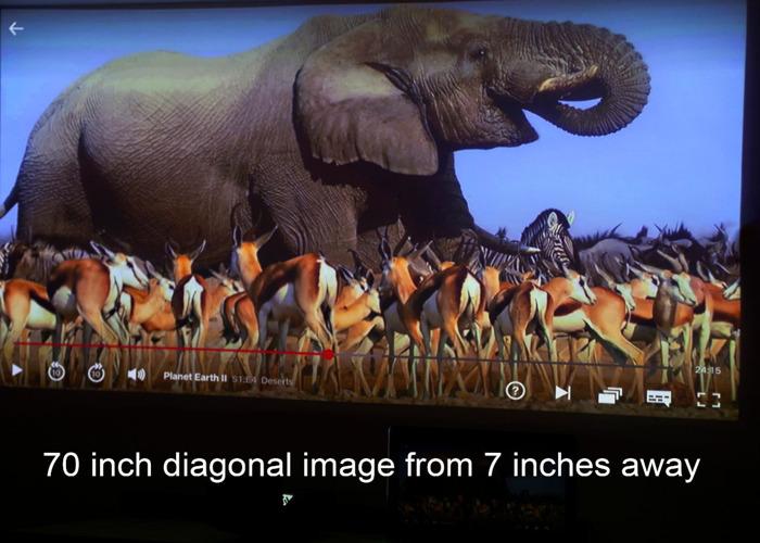 2D/3D Movie Projector full HD ultra short throw LG PF 1000 U theatre - 1