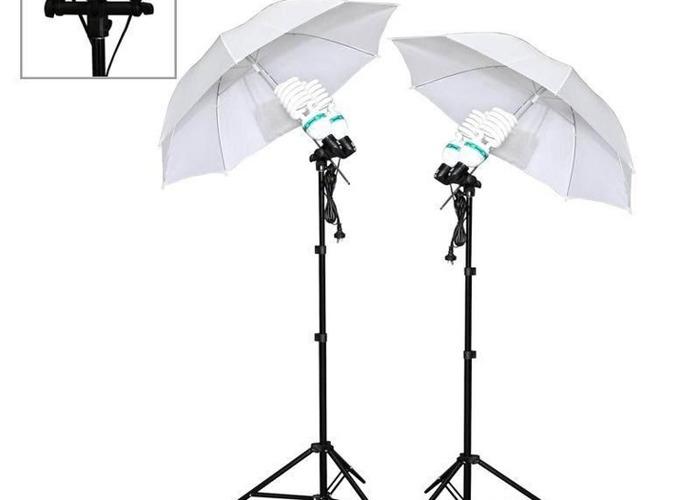 4x 24w Daylight & Night Bulb Silver Reflective/White Diffuser Kit - 1